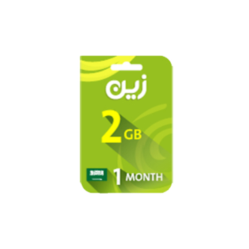 Picture of Zain Internet Recharge Card 2GB –1 month
