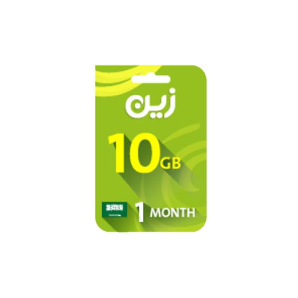 Zain Internet Recharge Card 10gb 1 Month Haddad الحداد