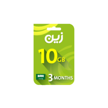 Picture of Zain Internet Recharge Card 10GB –3 months