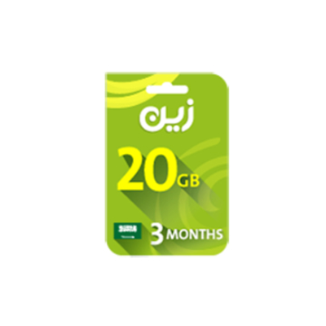 Picture of Zain Internet Recharge Card 20GB –3 months