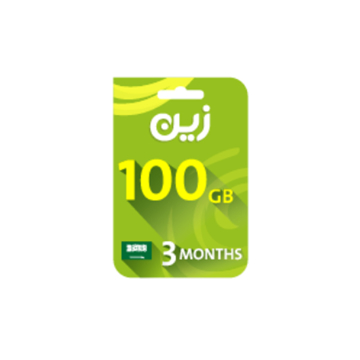 Picture of Zain Internet Recharge Card 100GB – 3 months