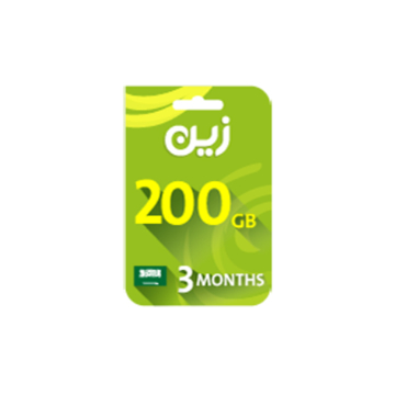 Picture of Zain Internet Recharge Card 200GB – 3 months