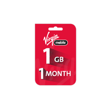 Picture of Saudi Virgin Data Recharge Card  - 1 GB for 1 Month