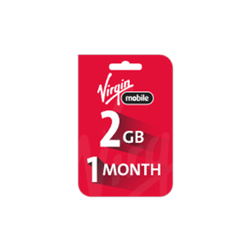 Picture of Saudi Virgin Data Recharge Card  - 2 GB for 1 Month