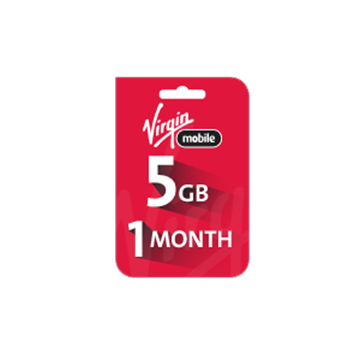 Picture of Saudi Virgin Data Recharge Card  - 5 GB for 1 Month