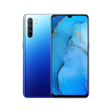 Picture of OPPO Reno 3 Daul Sim 4G 128 GB -  Aurora Blue