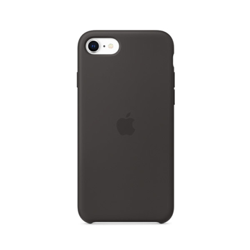 الصورة: ابل غطاء حماية خلفي سيليكون لاجهزة ابل iPhone SE  - اسود
