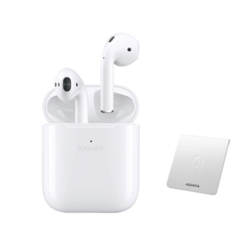 Picture of iOsuite Lite Buds Wireless Bluetooth Headset TWS with Wireless charging Case and Silicon Case - White