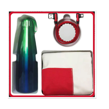 الصورة: HUAWEI Fashion UNIV Gift Box (Stainless Steel Thermos + 2 in 1 Data Cable + Canvas Shopping Bag)