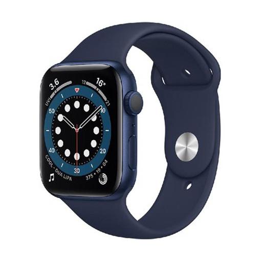 صورة ابل واتش الاصدار 6 ساعة ذكية ،44 مم - أزرق