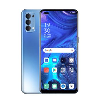 الصورة: اوبو رينو4 سعة 128 جيجابايت الجيل الرابع (4G) ثنائي الشريحة - أزرق