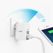 Picture of Anker PowerPort Lite Travel Wall Charger with 4 Ports Support PowerIQ 27W- White