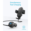 Picture of Anker PowerWave Fast Wireless Car Charger 7.5W With 2 Ports QC3.0 - Black