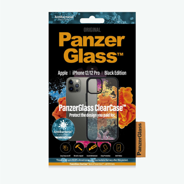 "Picture of Panzer Glass Clear Case for iPhone 12/12 Pro - 6.1"" 2020 With Black Frame"