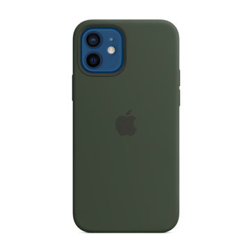 Picture of Apple iPhone 12 - 12 Pro Silicone Case with MagSafe - Cypress Green