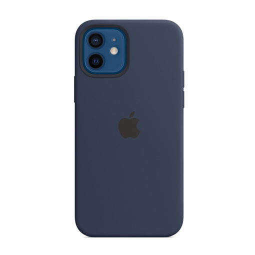 Picture of Apple iPhone 12 - 12 Pro Silicone Case with MagSafe - Deep Navy