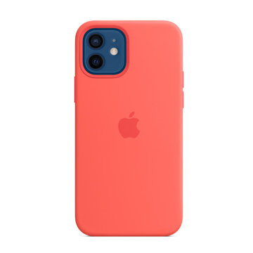 Picture of Apple iPhone 12 - 12 Pro Silicone Case with MagSafe - Pink Citrus