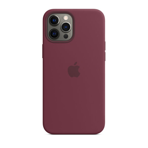 Picture of Apple iPhone 12 Pro Max Silicone Case with MagSafe - Plum