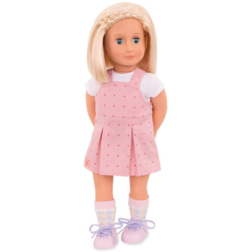 الصورة: Our Generation Naty Doll with Overall Dress, 18""