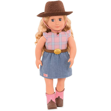 الصورة: Our Generation Cowgirl Doll With Skirt 18inch