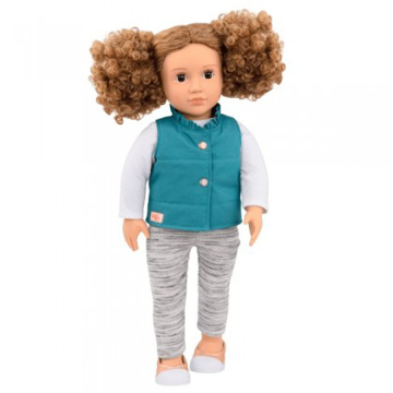 الصورة: Our Generation Mila Doll With Frilly Vest 18inch