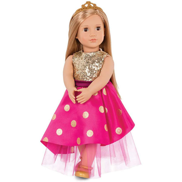 الصورة: Our Generation Doll Sarah With Festive Dress & Tiara