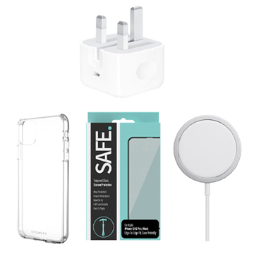 Picture of Bundle Accessory For iphone 12 - 12 Pro  ( Apple MagSafe - Home Adapter - Case for iPhone 12 / 12 Pro - Screen Protector )